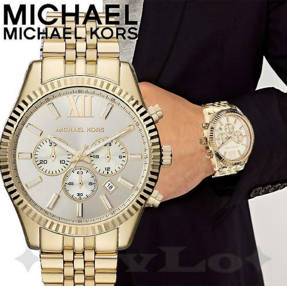 Michael Kors Accessories New Mk8281 Lexington Chrono